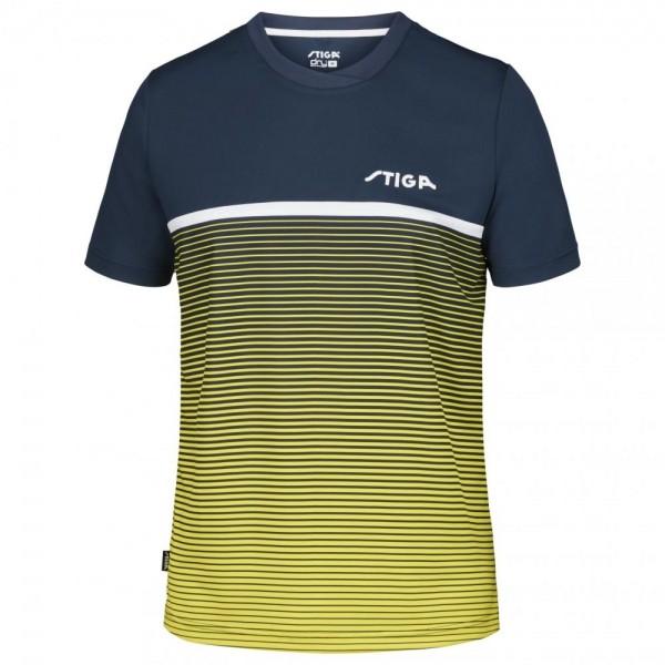 Stiga T-Shirt Lines blau/gelb/weiß