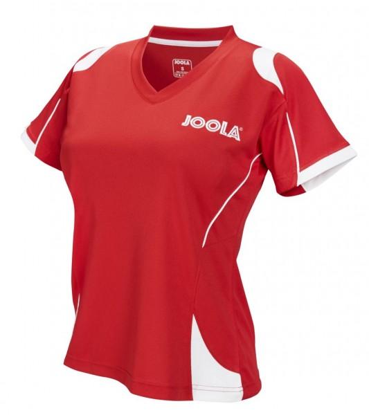 Joola Hemd Emox Lady rot/weiß