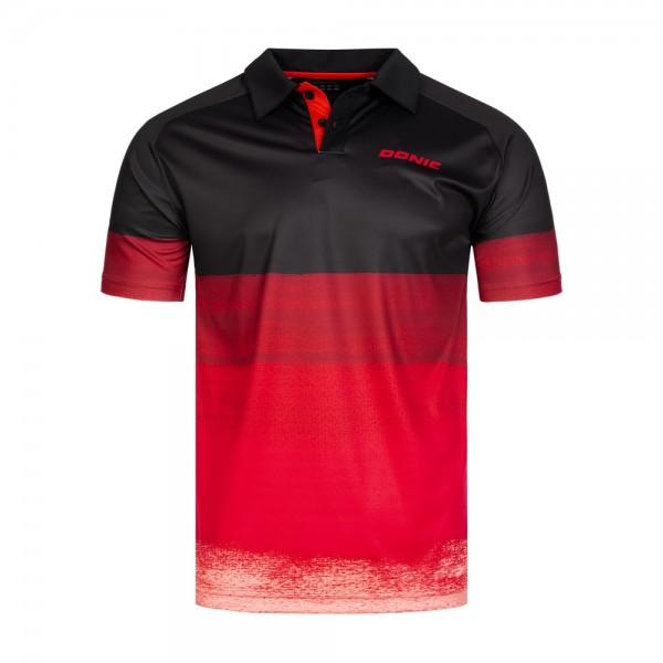 Donic Hemd Force schwarz/rot