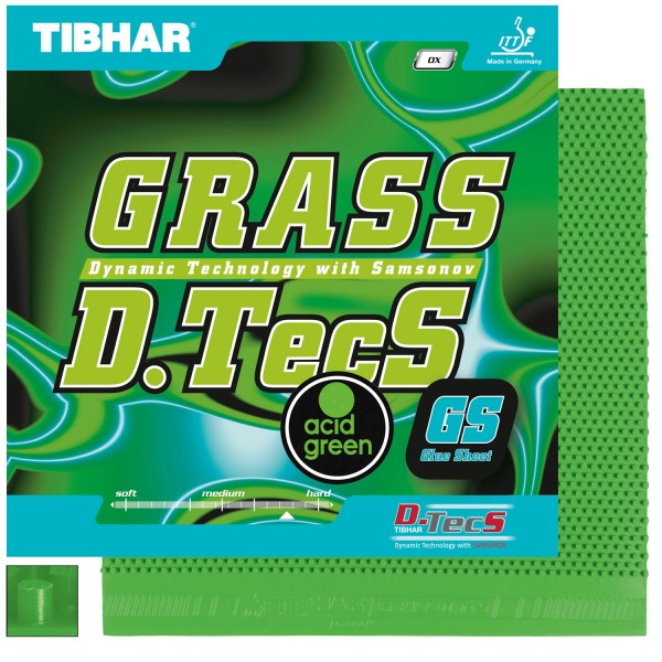 Tibhar Belag Grass D.TecS GS acid grün OX