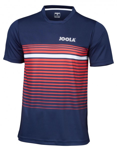 Joola T-Shirt Stripes marine/rot