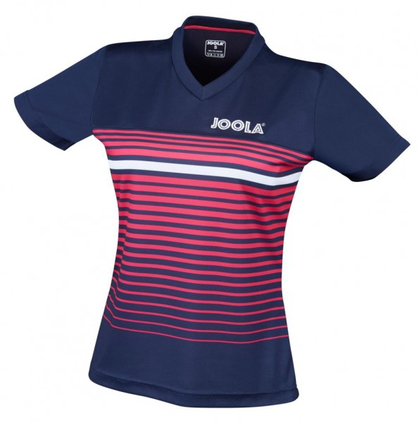Joola Hemd Stripes Lady navy/pink
