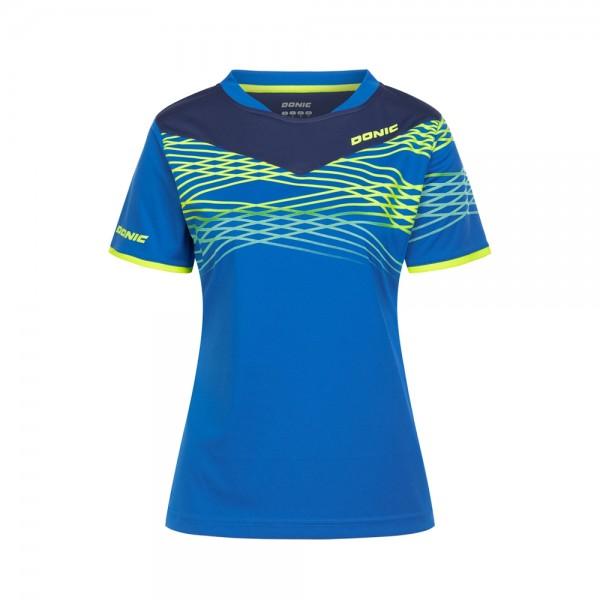 Donic Hemd Clash Lady blau/marine/gelb