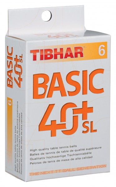 Tibhar Ball Basic 40+ SL nahtlos 6er Pack