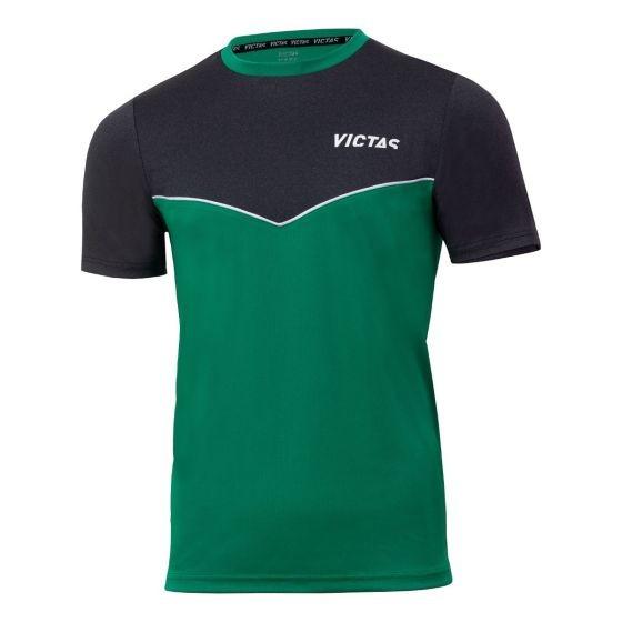 Victas V-T-Shirt 213 grün/anthrazit-melange