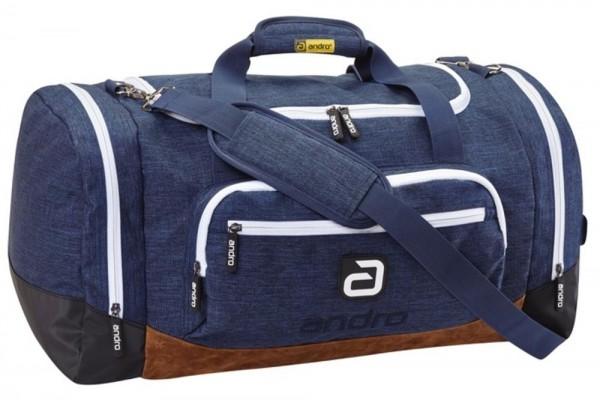 andro Tasche Mid Bag Salta blau/weiß