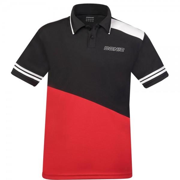 Donic Hemd Prime Kids schwarz/rot