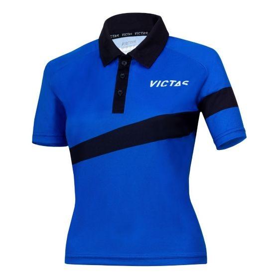 Victas Hemd Lady V-Shirt 217 blau/schwarz