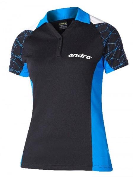 andro Hemd Leon Women schwarz/blau