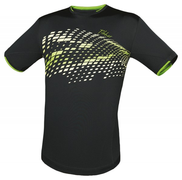 Tibhar T-Shirt Square schwarz/weiß/grün