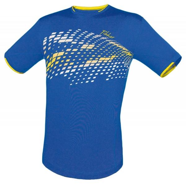 Tibhar T-Shirt Square blau/weiß/gelb