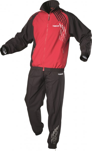 Tibhar Anzug Rallye rot/schwarz 3XL