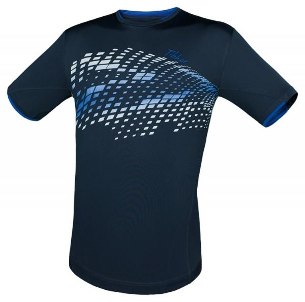 Tibhar T-Shirt Square marine/weiß/blau