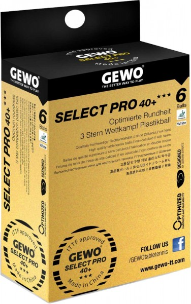 Gewo Ball Select Pro 40+ *** ABS 6er Pack
