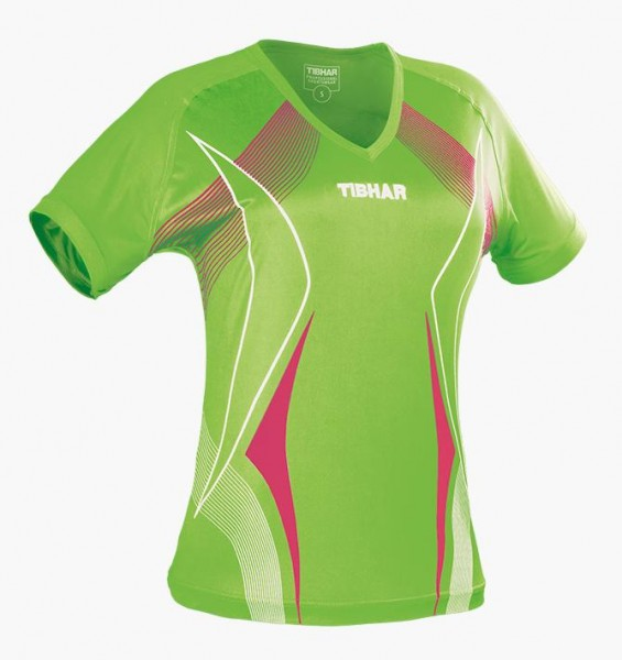 Tibhar Hemd Race Lady lime/pink