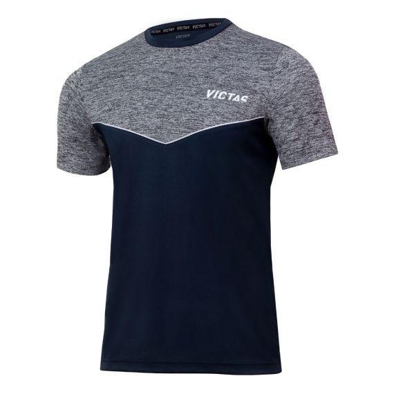 Victas V-T-Shirt 213 grau/grau-melange
