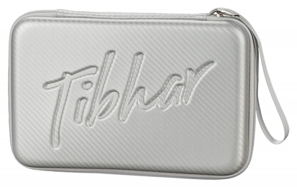 Tibhar Schlägerkoffer Carbon eckig silber