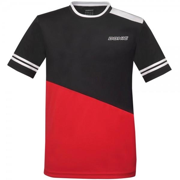 Donic T-Shirt Static Kids schwarz/rot