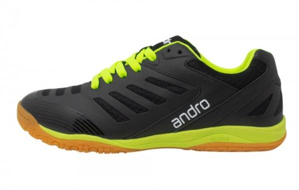 andro Schuh Cross Step schwarz/neongelb