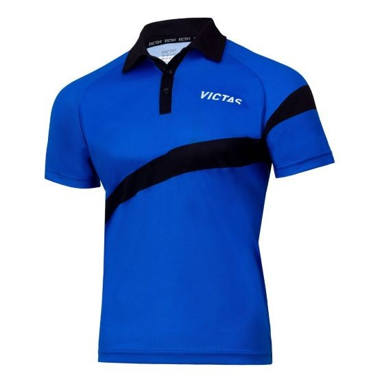 Victas Hemd V-Shirt 215 blau/schwarz
