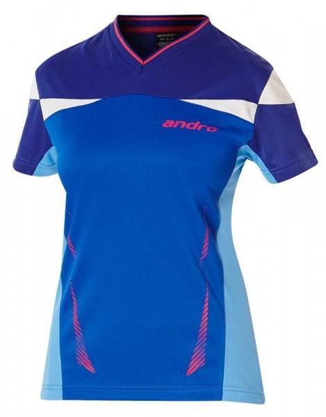 andro Hemd Erin Women blau/pink/weiß