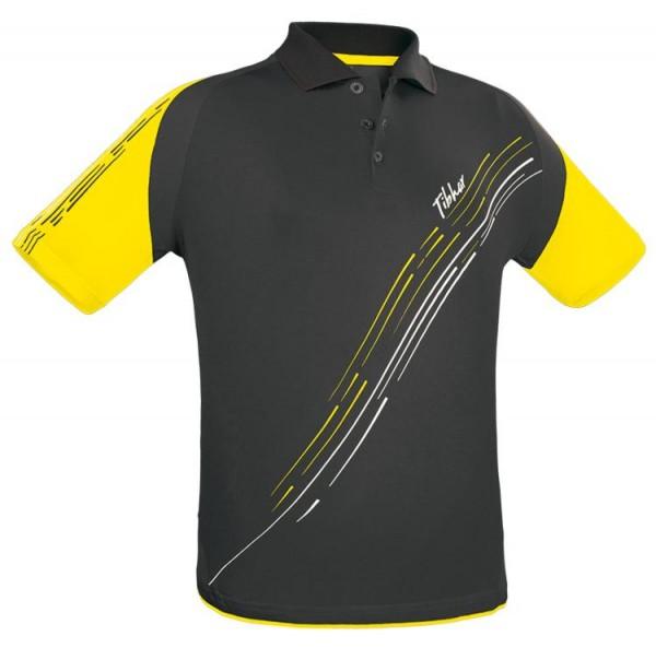 Tibhar Hemd Lane Baumwolle schwarz/gelb
