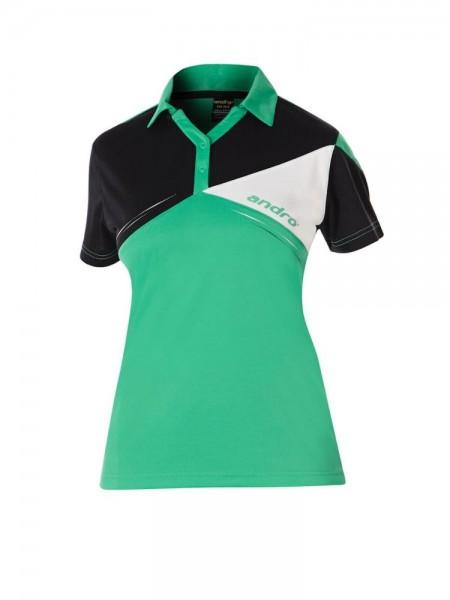 andro Hemd Conor Women grün/schwarz/weiß