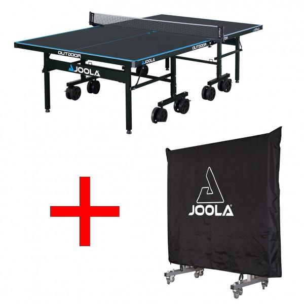 Joola Tisch Outdoor J500A grau + Joola Abdeckung