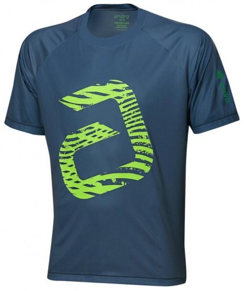andro T-Shirt Ashton grau/neongrün