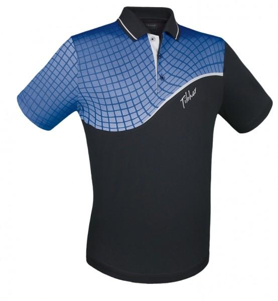Tibhar Hemd Curve schwarz/blau