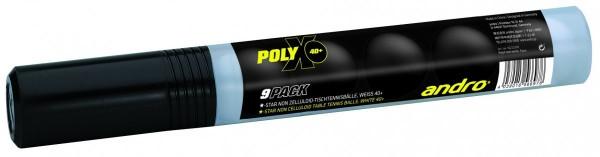 andro Ball Poly X Training* weiß 9er Röhre
