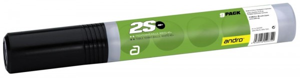 andro Ball Poly 2S Training 40+ cellfree ABS 9er Pack