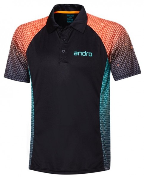 andro Hemd Marley Men schwarz/orange