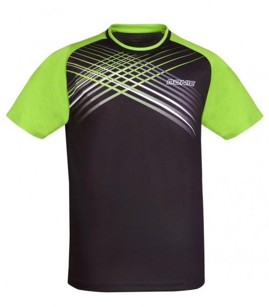 Donic T-Shirt Attack schwarz/lime