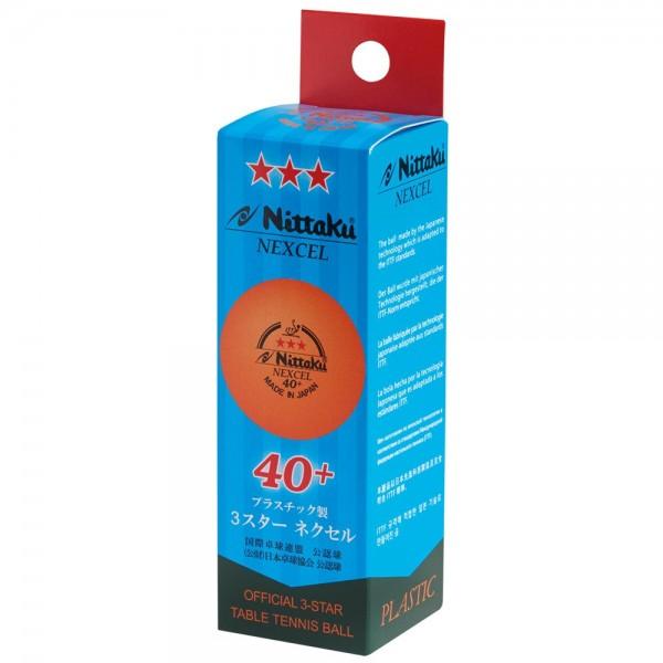 Nittaku Ball Nexcell 40+ *** 3er Pack orange