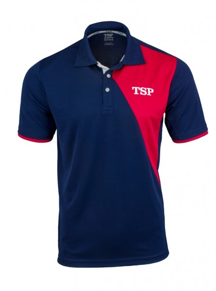 TSP Hemd Tameo Men Cotton marine/rot