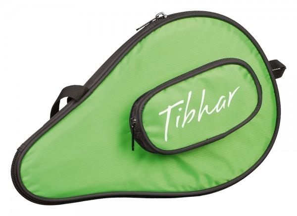 Tibhar Einzelhülle Metro rund mit Ballfach schwarz/grün