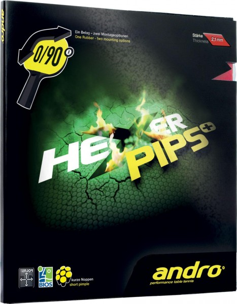 andro Belag Hexer Pips Plus