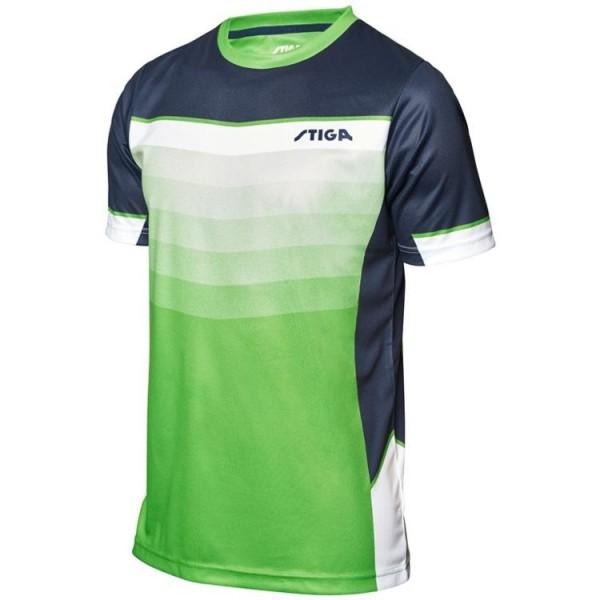 Stiga T-Shirt River grün/marine/weiß