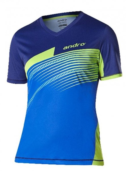 andro Hemd Barry Women blau/kiwi