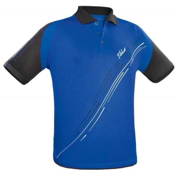 Tibhar Hemd Lane Polyester blau/schwarz/weiß