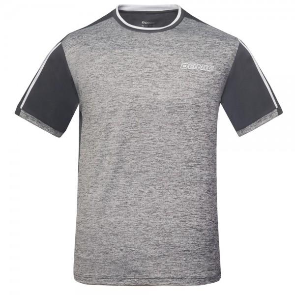 Donic T-Shirt Melange Tee Kids grau-melange/anthrazit