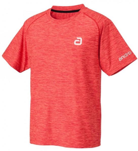 andro T-Shirt Melange Alpha rot