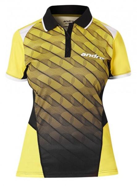andro Hemd Milos Women gelb/schwarz