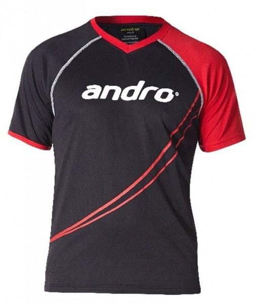 andro T-Shirt Dillon schwarz/rot
