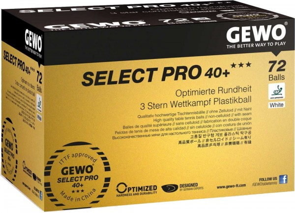 Gewo Ball Select Pro 40+ *** ABS 72er Pack