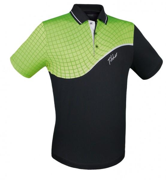Tibhar Hemd Curve schwarz/grün