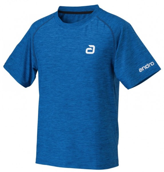 andro T-Shirt Melange Alpha blau