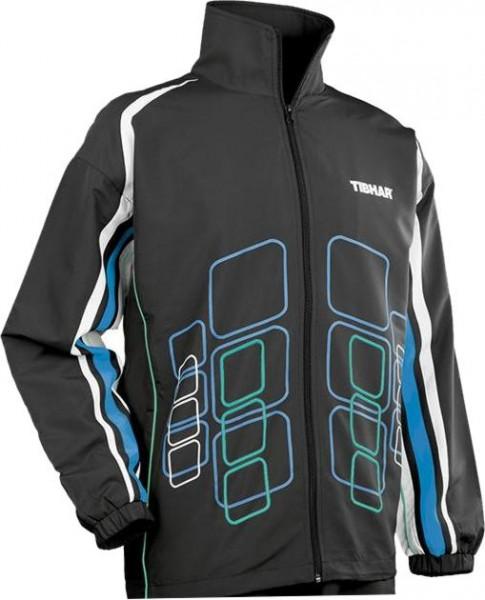 Tibhar Anzugjacke Cube schwarz/blau