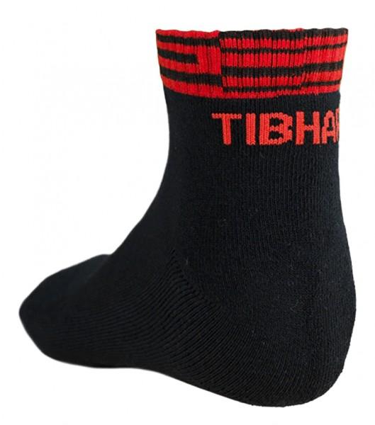 Tibhar Socke Line schwarz/rot
